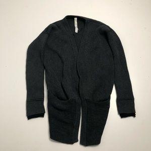 Lululemon Gray Knit Size 6 Open Wrap Sweater